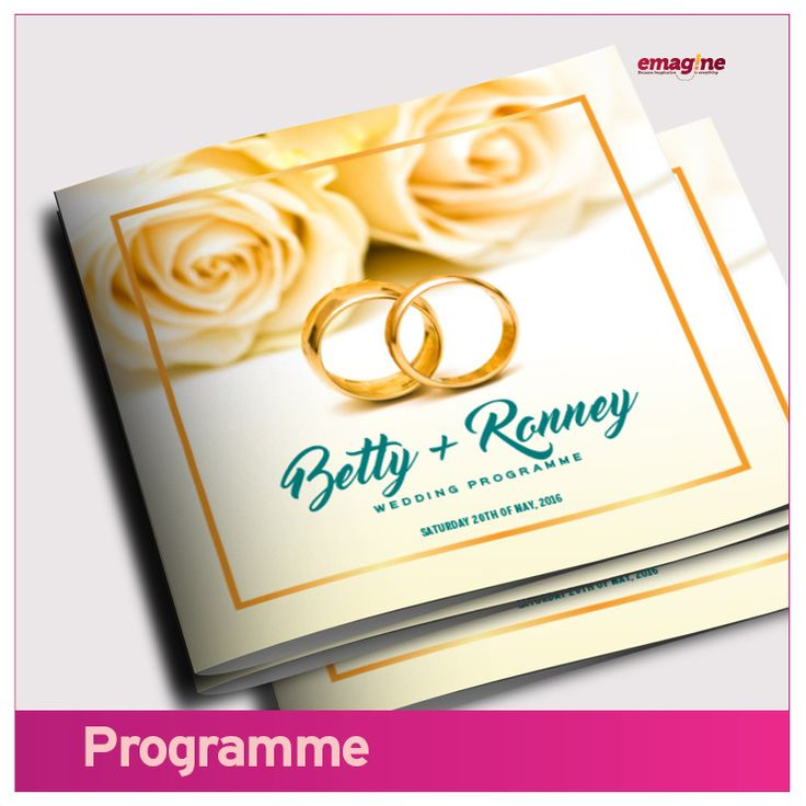 WEDDING PROGRAMMES- Your wedding program must have a unique and classy look and feel. Let's work with you to develop the contents and leave you smelling fresh and fine. Make yours #aWeddingtoremember.