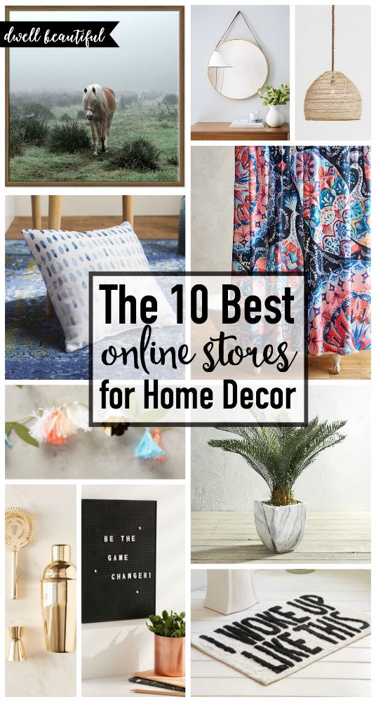 The 10 Best Online Stores for Home Decor  Check out these awesome shops, get online shopping perks, and check out some awesome must-have items for your home!