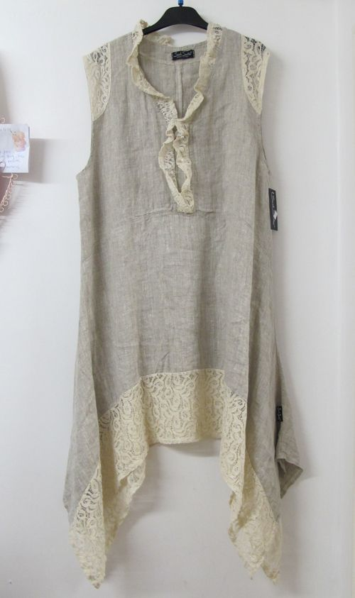 Tunic Linen Summer Dress | To achieve that perfect Lagenlook style, layer with linen trousers and ...