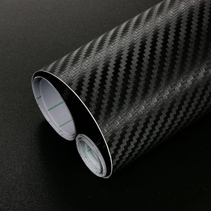 10cm x 60cm 3D Carbon Fiber Vinyl Film Car Stickers Waterproof DIY Car Styling Wrap For Auto Vehicle Motorcycle Car Accessories
