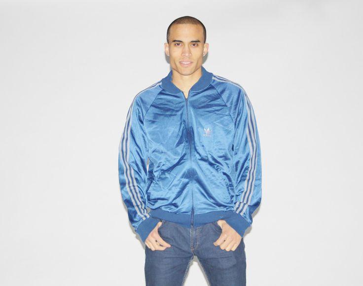 Vintage 1990s Adidas Trefoil Three Stripes Athletic Warmup Sweater Jacket