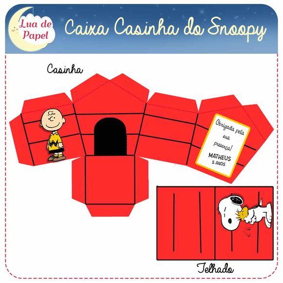 Caixa Casinha Turma do Snoopy                              …