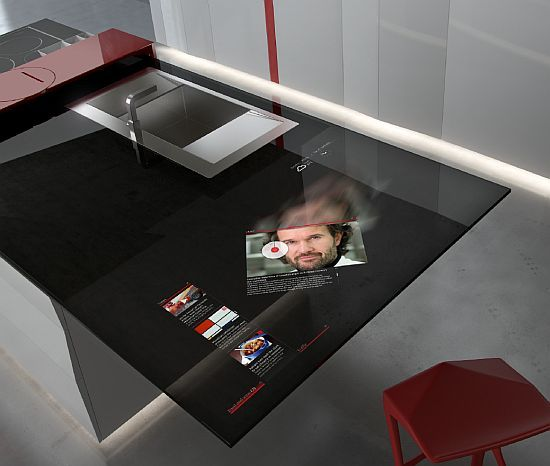 Countertop with built in Galaxy tablet