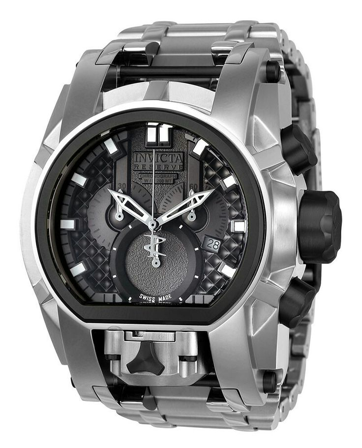 INVICTA BOLT SWISS MADE QUARTZ WATCH - BLACK, STAINLESS STEEL CASE STAINLESS STEEL BAND - MODEL 20110
