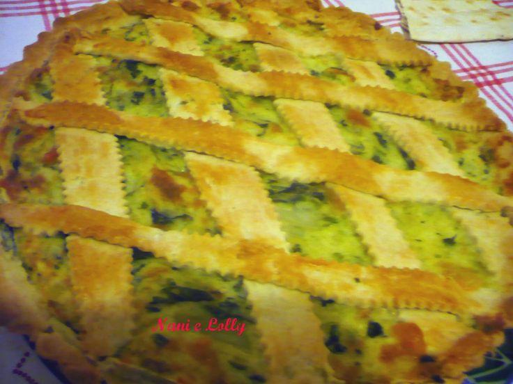 LE RICETTE DI NANI: Crostata salata con verza, patate e mozzarella