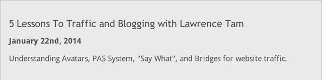 Lawrence Tam Inner Circle Blogging Tipps – Die Blog Erfolgs Formel und Paulo Coelho - Mehr Infos zum Thema auch unter http://vslink.de/internetmarketing