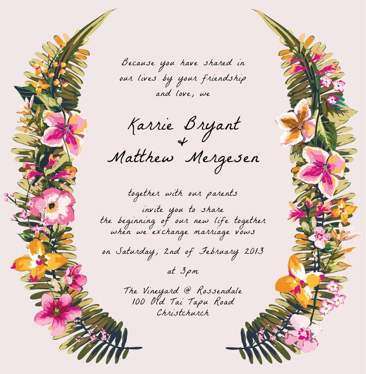 Karrie & Matthew's Invite - www.chicdesign.co.nz