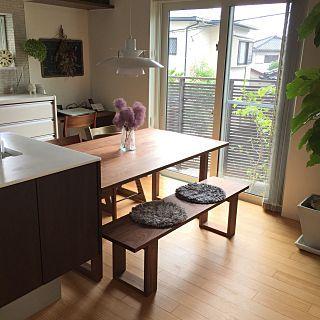 My Desk/ダイニングテーブル/ベンチ/黒板/パソコンデスク/エコカラット...などのインテリア実例 - 2017-07-28 01:22:22