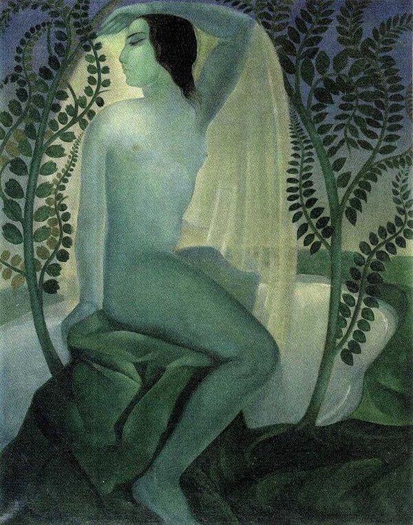 Lado Gudiashvili. Spring #onlyart_painting #1920s #artdeco #women #spring #portrait #painting #art #onlyart