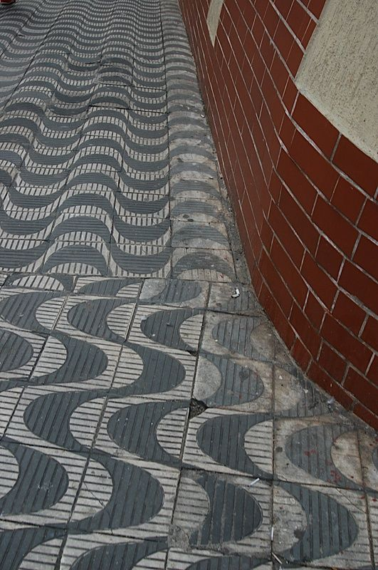 Pavement tiles, Brazil