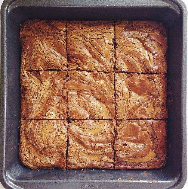 But, you can also swirl it into brownie batter, and it makes something magical happen. | Here's How To Experience The Holy Matrimony Of Cookie Butter And Brownies