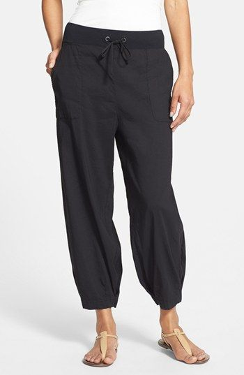 Eileen Fisher Slouchy Stretch Linen Capri Pants | Nordstrom