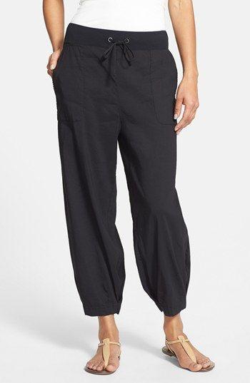 Eileen Fisher Slouchy Stretch Linen Capri Pants