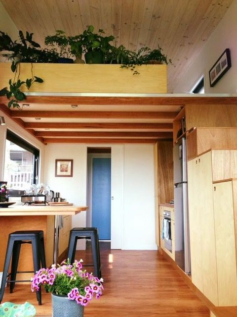 This is Nadia's Zen Tiny House in Byron Bay, Australia. It was designed by the owners (and Nadia said they collected lots of ideas from Tiny House Talk over the years) and built by their friend and local tiny house builder, Sam Commerford.
