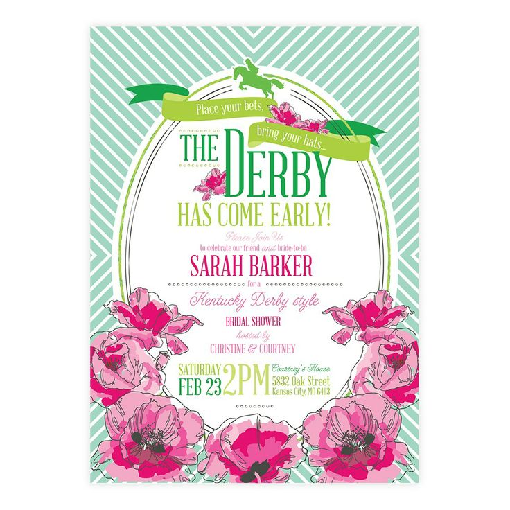 9 best Kentucky Derby Wedding Shower Invitation images on Pinterest