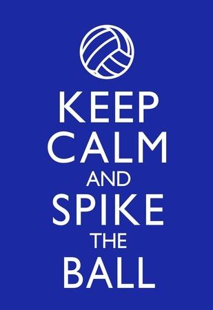 Keep Calm and Spike the Ball