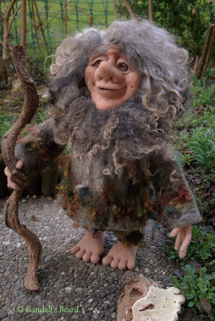 Marukh, needle felted Dwarf https://www.facebook.com/pages/Gandalfs-Beard/220163461396561