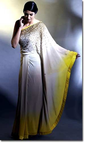 Beautiful Mod Indian, Desi fashion, from Satya Paul latest collection Sarees, Salwars, Lehengas for 2013, via @sunjayjk