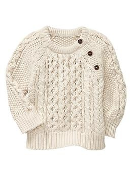 Cable crewneck sweater | Gap // for baby boy