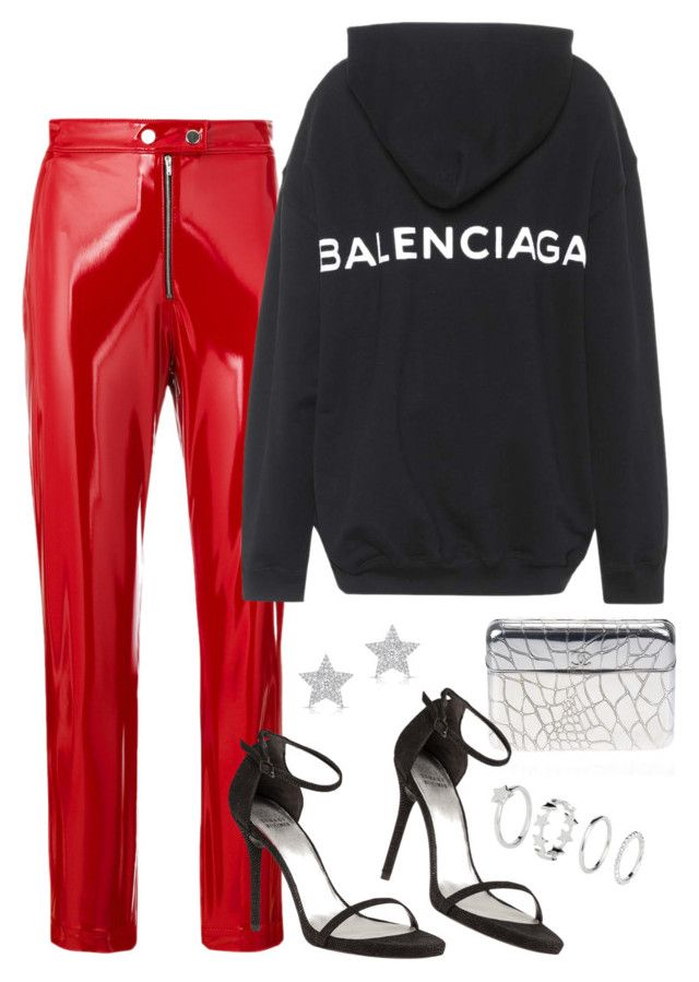 """""""Sans titre #3150"""" by christina95styles ❤ liked on Polyvore featuring MSGM, Balenciaga, Stuart Weitzman, Chanel, Diamond Star and H&M"""