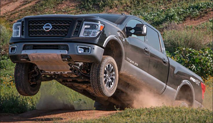 The 2016 Nissan Titan XD's Cummins diesel engine weighs about 900 pounds. That makes this one hell of a trustfall for the ICON's new suspension system here. We're waiting to hear how it looked after landing, but I'm just stoked somebody had the balls to get hangtime in this monster!