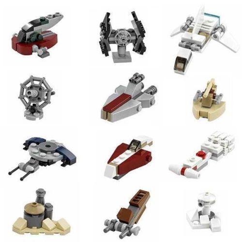Lego-Star-Wars-12x-Micro-Builds-2016-75146-Slave-1-Tie-Interceptor-Hoth-Turret