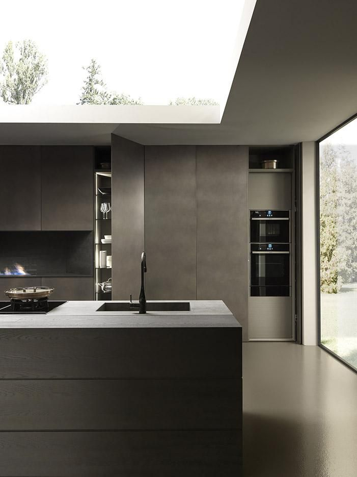 "Dark kitchen inspiration by Modulnova: Kitchen ""Blade"" (Source: Modulnova)"