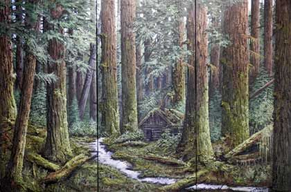 Studio KD - Artwork of Karel Doruyter, West Coast Rainforest II Series