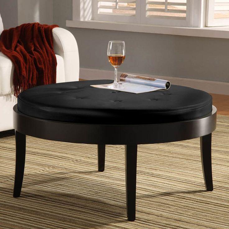 Citation Coffee Table Ottoman with Removable Cushion - LC6023OTBCBL
