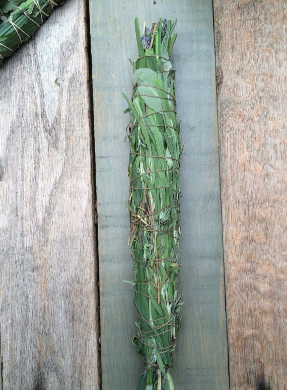 Smudge Stick Purification Ritual Cleansing Lavender White