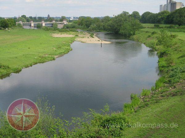 The river Ruhr near Mülheim