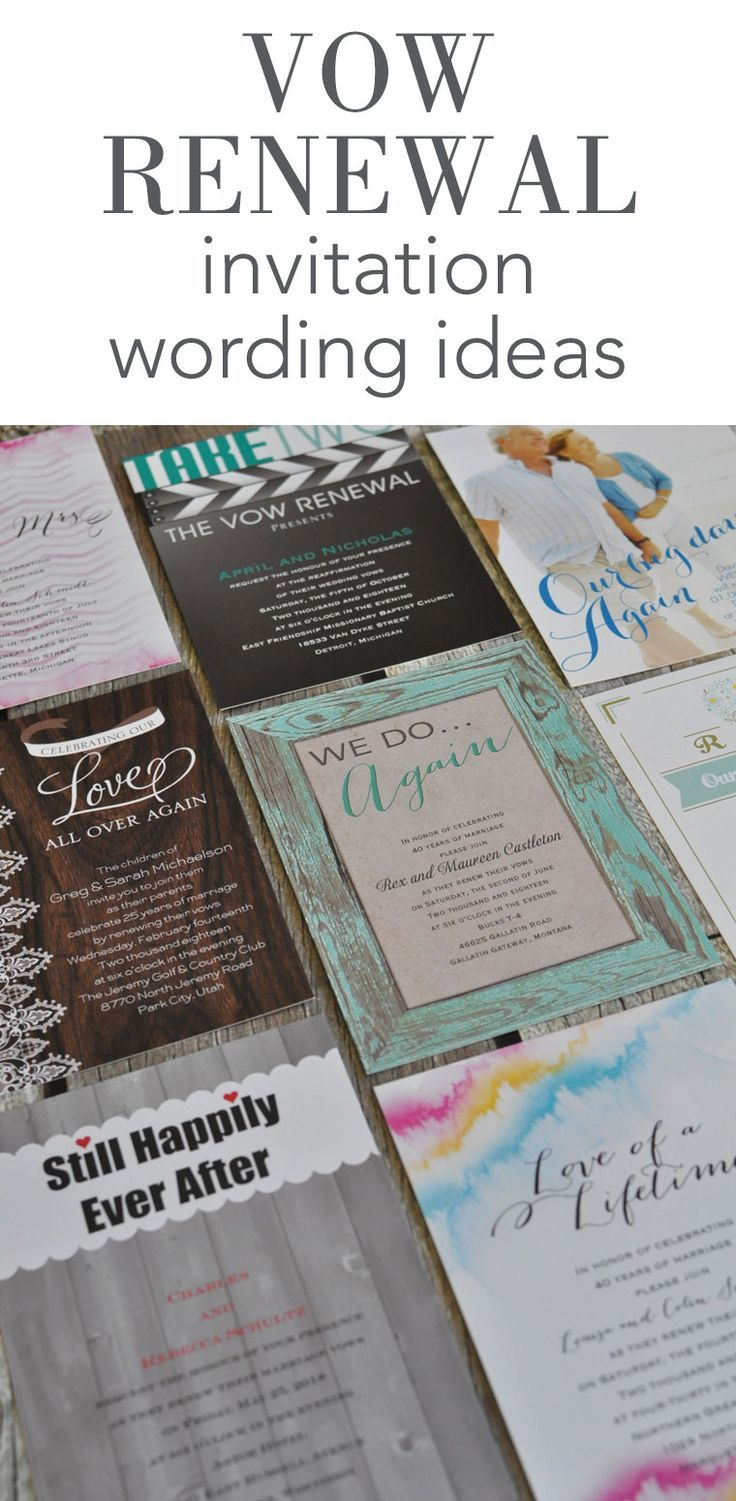 wedding invitation ideas vow renewal invitation wording ideas from invitations by 9714