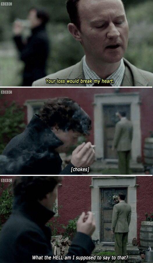 Mycroft and Sherlock really do love each other.