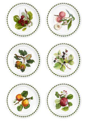 PORTMEIRION Set of 6 Pomona Dinner Plates