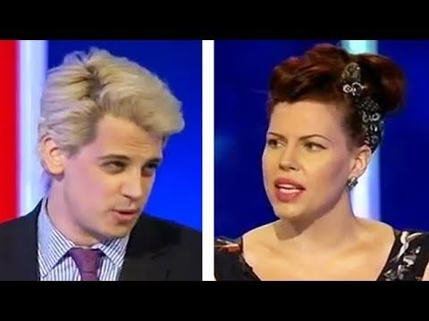 Milo Yiannopoulos OWNS Insane Leftist Woman In a Heated Debate Live On TV