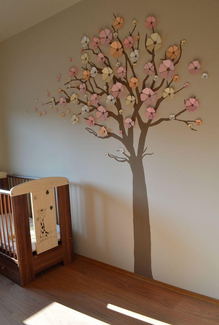 Blanka babaszobája 3D virágok Baby room Wall decor