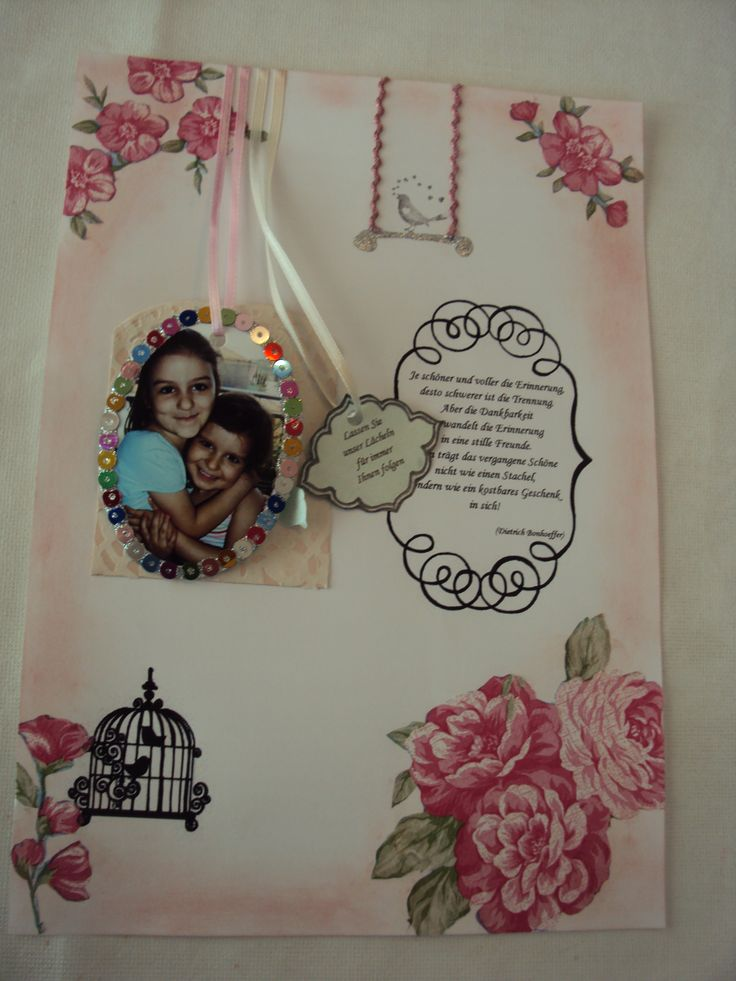 scrapbooking page with photo in the pocket