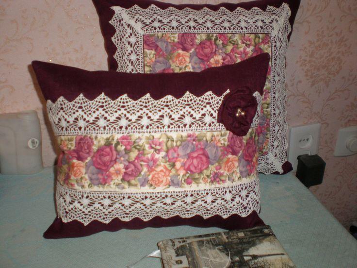 Винтажные подушки.