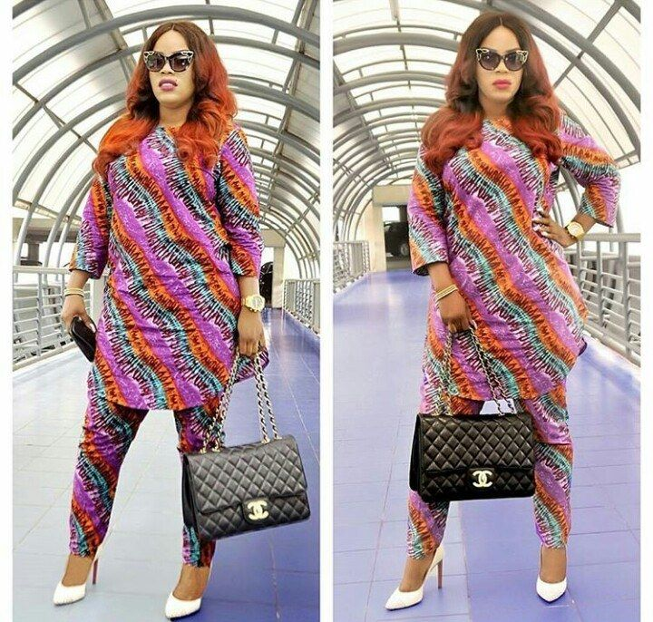 Top Ten Simple Way To Rock Ankara Top And Trouser Styles