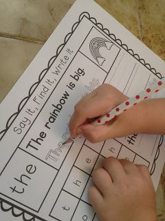 Teachable Moments - Say It, Write It, Find It Sight Words