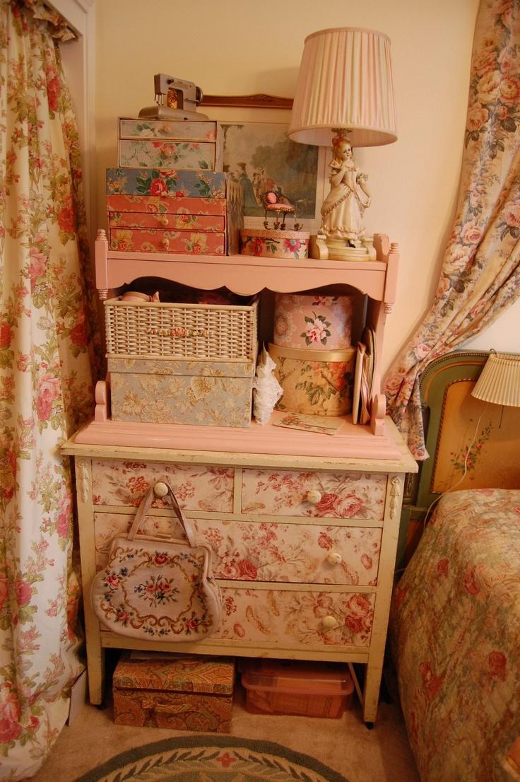 floral decoupage furniture. A Floral Decoupage Heaven. Furniture T