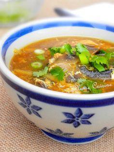 Soupe chinoise au poulet …
