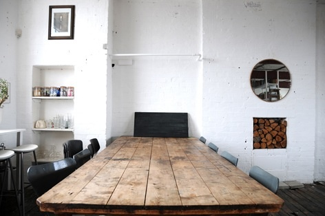 dining space.  via 16house. banquet table.