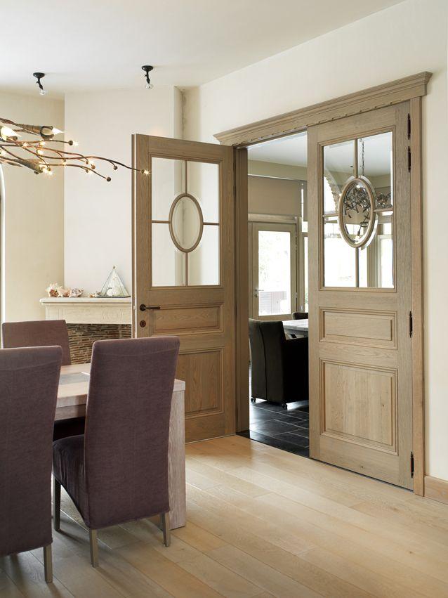 Nordex binnendeur draaideur klassieke deur 270 CP eik glas dubbele deur hout