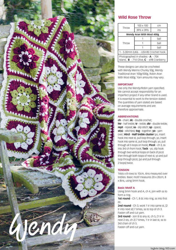 Wild Rose Blanket from Crochet Now №12 2017