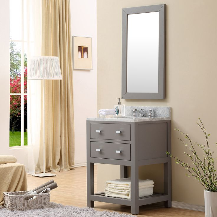 cadale 24 inch gay finish single sink bathroom vanity