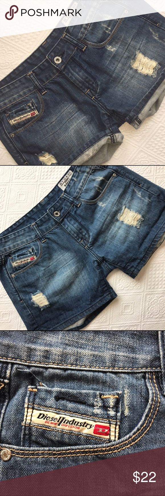 Diesel Industry W  size 29 distressed Jean shorts Distressed Jean shorts made by Diesel Industry size W 29 Diesel Shorts Jean Shorts