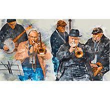 Musical Mates in Flinders Lane Photographic Print