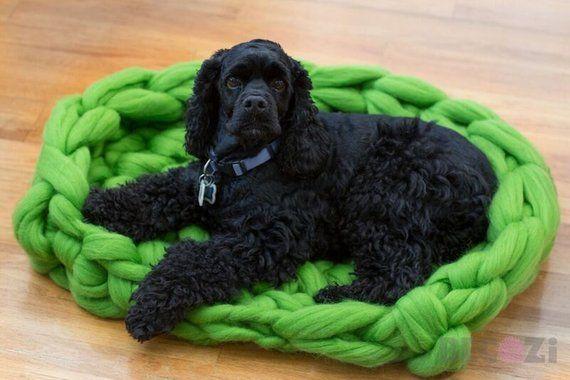 Dog Bed Dog Mat Pet Bed Chunky Knit Dog Bed Merino Wool Dog Bed Pet Bed Dog Bed Dog Pet Beds Diy Dog Bed