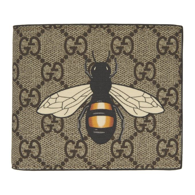 baf30781ebd GUCCI Beige GG Supreme Bee Wallet. #gucci # | Style in 2019 | Wallet ...